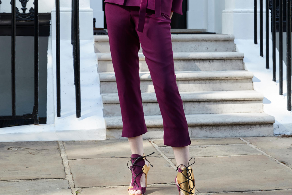 Sassi Holford Boston Trousers Aubergine