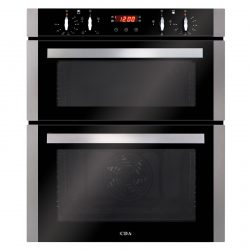 CDA DC740SS 60cm Built-Under Touch Control Double Electric Programmable Fan Oven