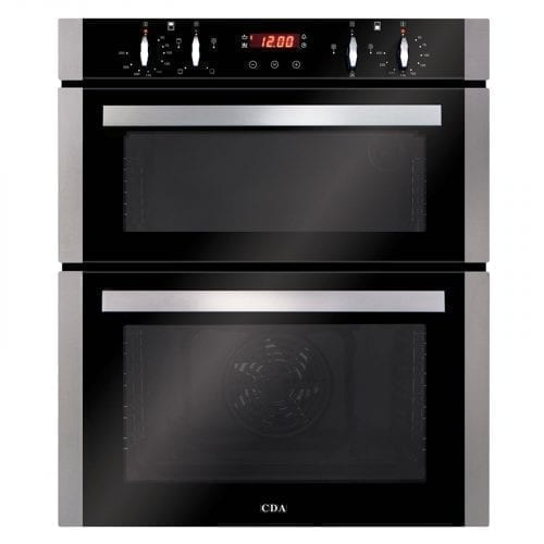 CDA DC740SS 60cm Built-Under Touch Control Double Electric True Fan Oven