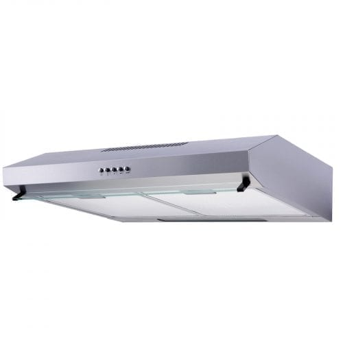 SIA STV60SS 60cm Visor Cooker Hood Kitchen Extractor Fan In Stainless Steel