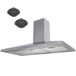 SIA CH91SS 90cm Stainless Steel Chimney Cooker Hood Extractor Fan And Filters