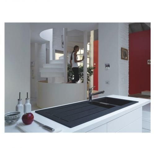 Franke Sirius SID651BL 1.5 Bowl Black Tectonite Reversible Kitchen Sink & Waste
