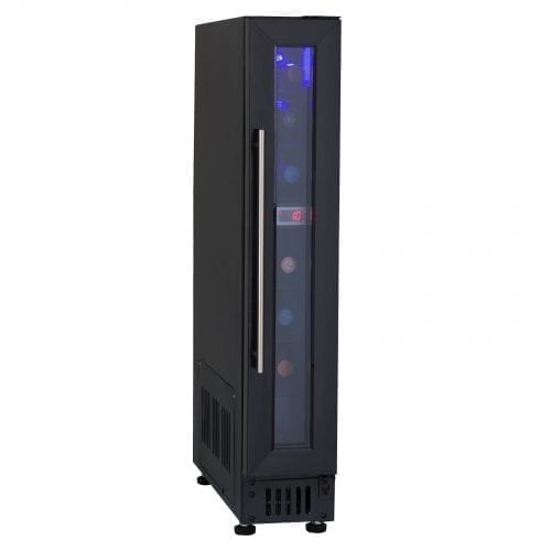 SIA BWC150BL 15cm Free Standing Under Counter LED Wine Cooler In Black