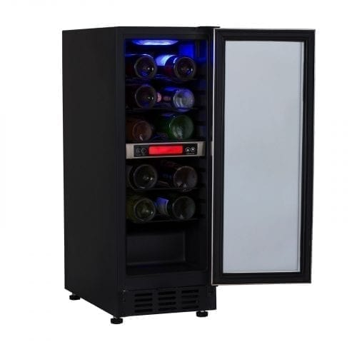 SIA BWC300SS 30cm Free Standing Under Counter LED Wine Cooler In St/Steel