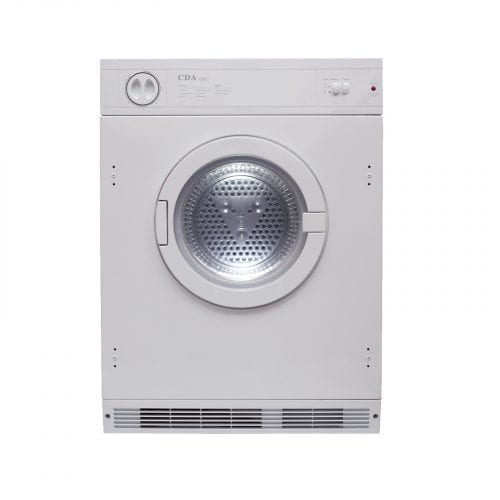CDA CI921 Integrated Built In 7Kg 8 Program Sensor Tumble Dryer In White