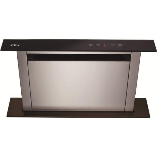 CDA EDD61BL 60cm Black Downdraft Touch Control Kitchen Extractor Fan