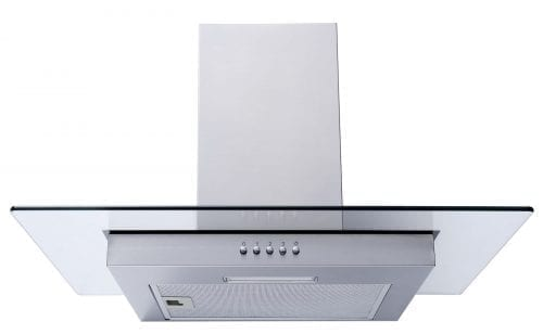 SIA 60cm LED Edge Lit Stainless Steel Cooker Hood Extractor Fan + Carbon Filter