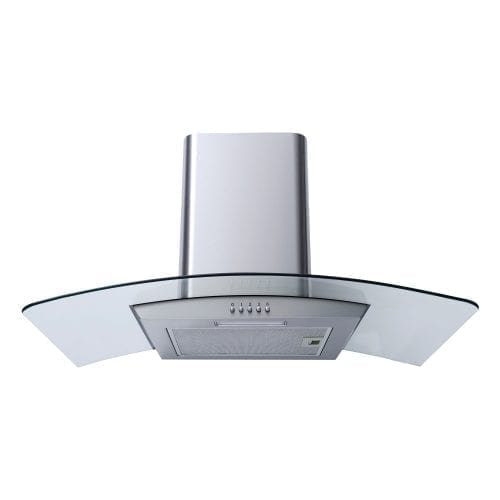 SIA CG81SS 80cm Stainless Steel Curved Glass Cooker Hood Extractor Fan