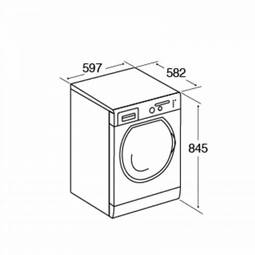 CDA CI261BL Free Standing High Capacity Twin Jet Washing Machine in Black A+++