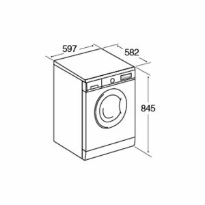 CDA CI860 Free Standing 1400rpm 8Kg Washer Dryer In White