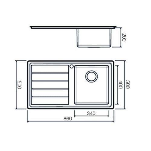 Clearwater Linear Plus 1.0 Bowl Brushed Finish Stainless Steel Kitchen Sink