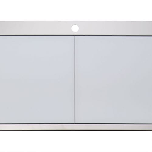 Clearwater Mirage 2.0 Bowl Stainless Steel Sink & White Glass Chopping Boards