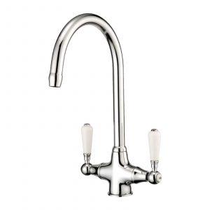 Franke Aveta 1.0 Black Tectonite Kitchen Sink & Reginox Elbe Swan Neck Mixer Tap
