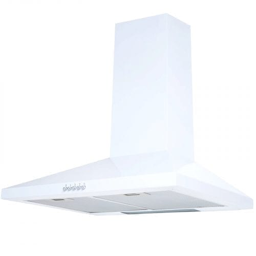 SIA CH71WH 70cm Chimney Cooker Hood Kitchen Extractor Fan In Ice White