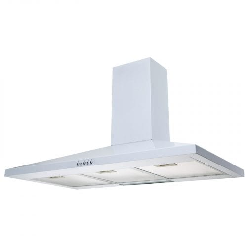 SIA CH101WH 100cm Chimney Cooker Hood Kitchen Extractor Fan In White