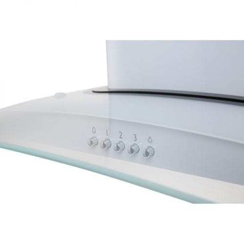 SIA CPE71WH 70cm 3 Colour LED White Cooker Hood Extractor Fan + Carbon Filters