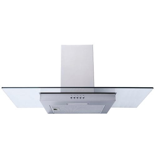 SIA FG91SS 90cm Flat Glass Stainless Steel Chimney Cooker Hood Extractor Fan