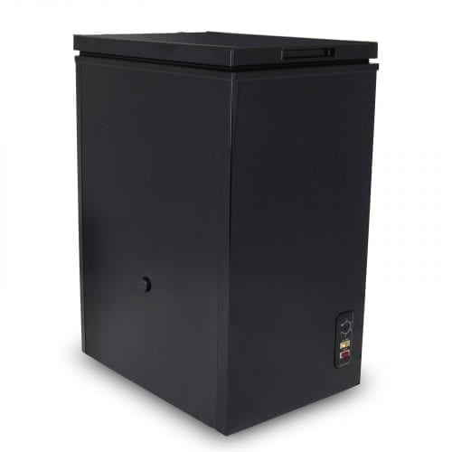 SIA CHE60BL 43cm Slimline Freestanding Black 61L Chest Freezer A Energy Rating