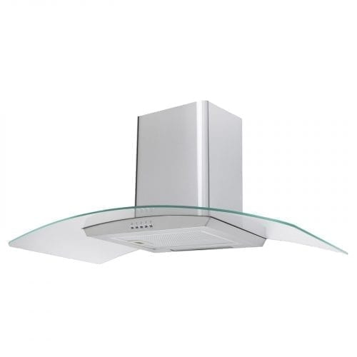 SIA 100cm 3 Colour LED St/Steel Cooker Hood Extractor Fan + 1m Ducting Kit