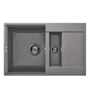 Reginox Easy 325 Grey Granite Composite Inset 1.5 Bowl Reversible Kitchen Sink