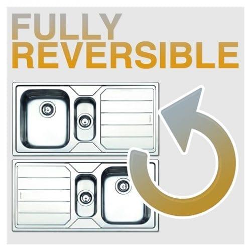 Franke Sirius SID651TS 1.5 Bowl Stone Grey Reversible Kitchen Sink & Waste Kit