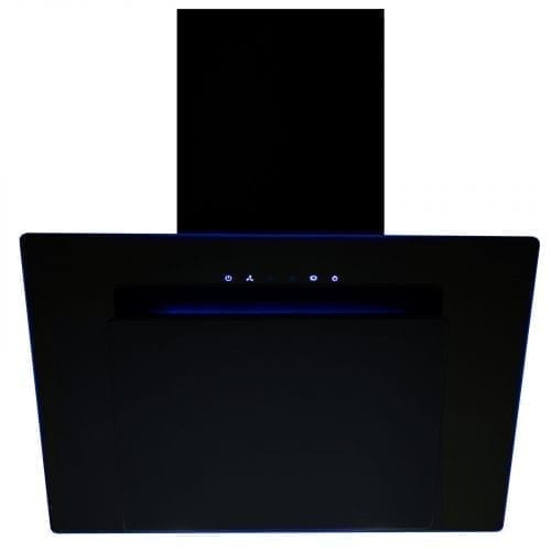 SIA 70cm 3 Colour LED Edge Lit Touch Control Black Cooker Hood + Filter