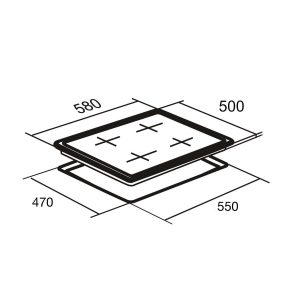SIA GHG603WH 60cm Ice White 4 Burner Gas On Glass Hob | LPG KIT | IRON SUPPORTS