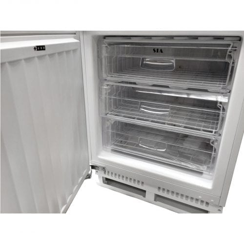 SIA RFU103 Integrated 102L Under Counter Freezer In White  A+ Rating