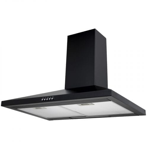 SIA CHL61BL 60cm Chimney Cooker Hood Extractor Fan in Black +1m Ducting