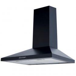 SIA CHL61BL 60cm Black Chimney Cooker Hood Kitchen Extractor Fan