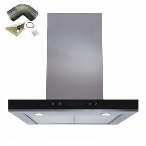 SIA 60cm Stainless Steel Linear Touch Control Cooker Hood Extractor & 1m Ducting
