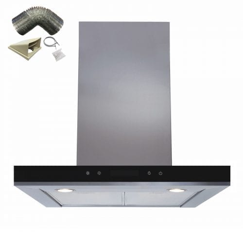 SIA 60cm Linear Touch Control Stainless Steel Cooker Hood Extractor + 1m Ducting