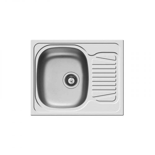 Clearwater Sparta 1.0 Bowl Compact Satin Inset Kitchen Sink & Creta Lever Tap