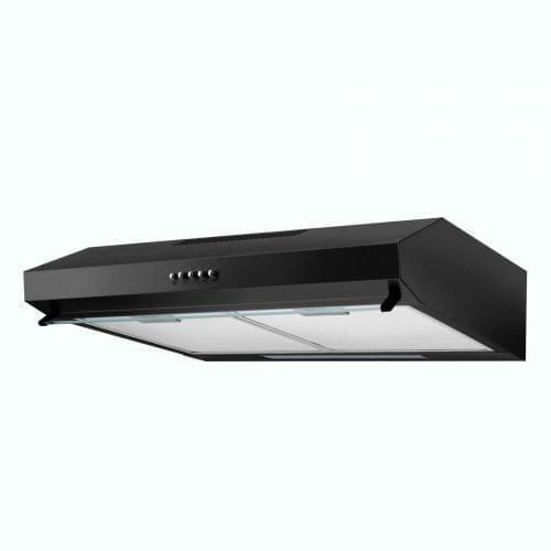 SIA V50BL 50cm Slim Visor Cooker Hood Kitchen Extractor Fan In Black