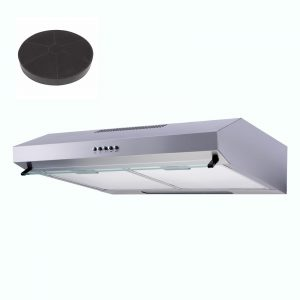 SIA V50SS 50cm Stainless Steel Visor Cooker Hood Extractor Fan And Carbon Filter