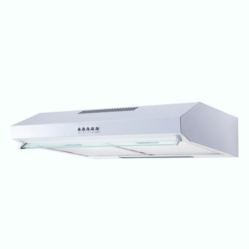 SIA V50WH 50cm Visor Cooker Hood Kitchen Extractor Fan In White