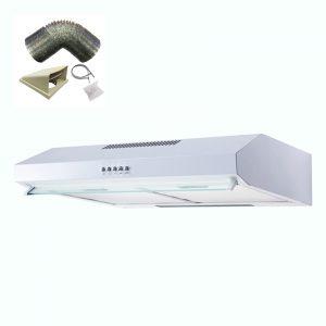 SIA V50WH 50cm White Slimline Visor Cooker Hood Extractor Fan And 3m Ducting Kit