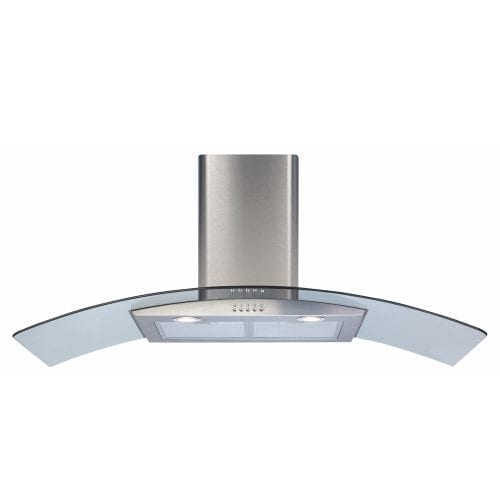 CDA ECP112SS 110cm Curved Glass Chimney Cooker Hood In Stainless Steel