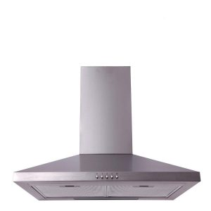 SIA 60cm Stainless Steel 4 Burner Gas Hob & Chimney Cooker Hood Extractor Fan