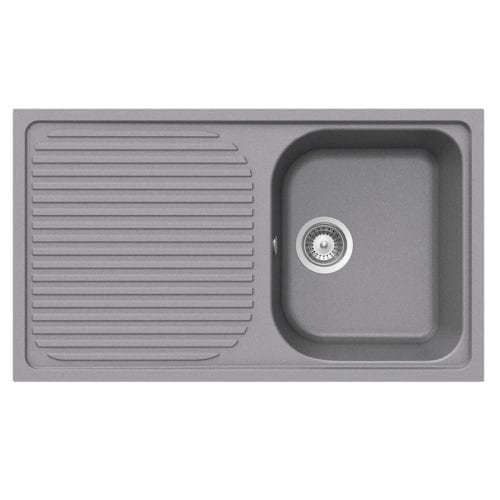 Schock Lithos D100 1.0 Bowl Grey Granite Kitchen Sink & Reginox Astoria Tap