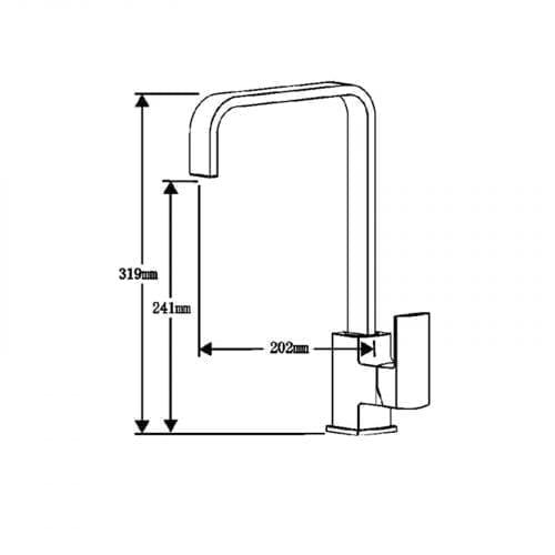 Schock Lithos D100 1.0 Bowl Onyx Black Granite Sink & Reginox Astoria Mixer Tap