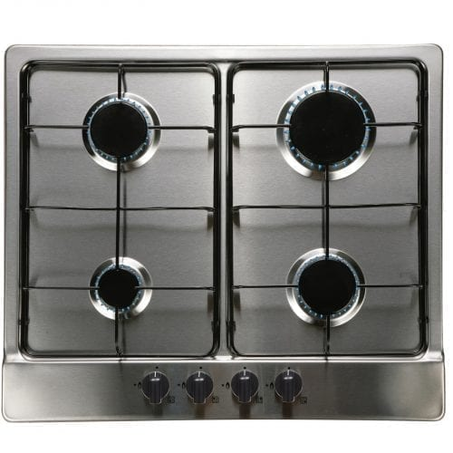 SIA SO111SS 60cm Single Electric Fan Oven & Stainless Steel 4 Burner Gas Hob