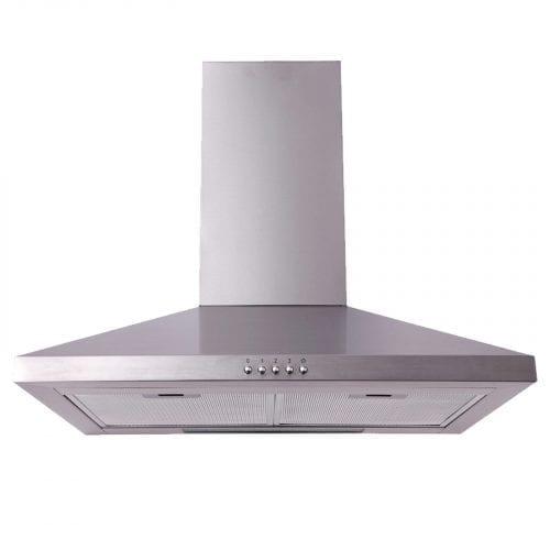 SIA 60cm Single Electric True Fan Oven, 4 Burner Gas Hob & Chimney Cooker Hood