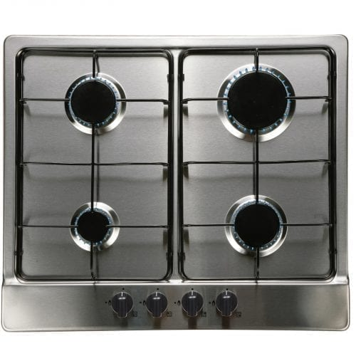 SIA SO112SS 60cm Single Electric Fan Oven & Stainless Steel 4 Burner Gas Hob