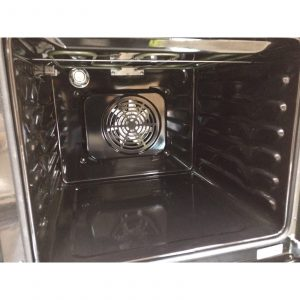 SIA 60cm Stainless Steel Single Electric Digital Fan Oven & 4 Burner Gas Hob
