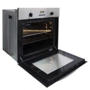 SIA 60cm Electric True Fan Single Oven, 4 Burner Gas Hob & Chimney Cooker Hood