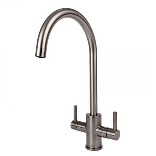 Astracast Sierra 1.5 Bowl Black Kitchen Sink & Reginox Brushed Steel Mixer Tap