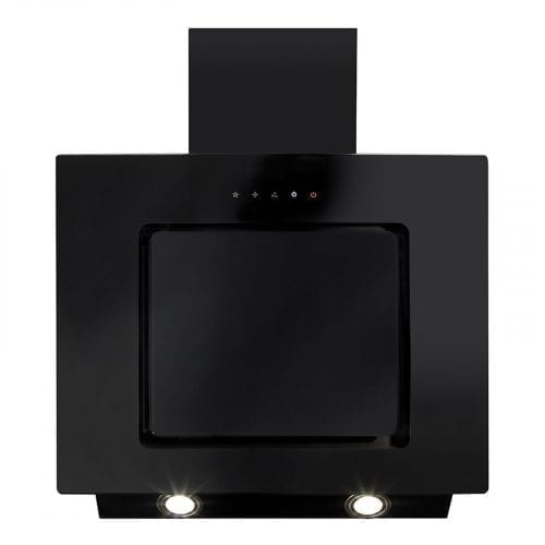 CDA EVA60BL 60cm Touch Control Angled Kitchen Cooker Hood Extractor Fan In Black