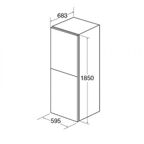 CDA FF660SC Freestanding 60>>40 Combination Frost Free Fridge Freezer | A+ Rating