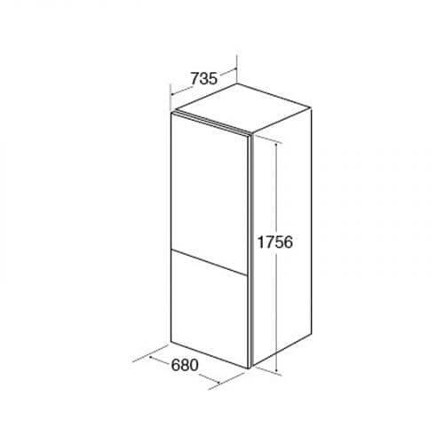 CDA FF770SS Freestanding 70>>30 Combi Frost Free Stainless Steel Fridge Freezer